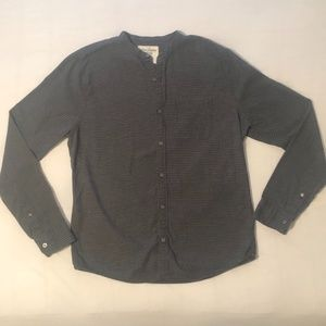 Grey and Black Striped Abercrombie Button Down